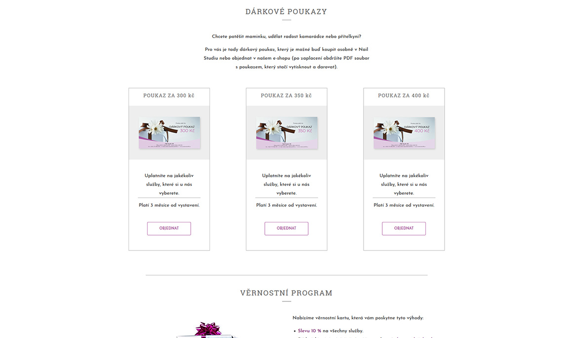 Nail Studio 99 - Responsive website