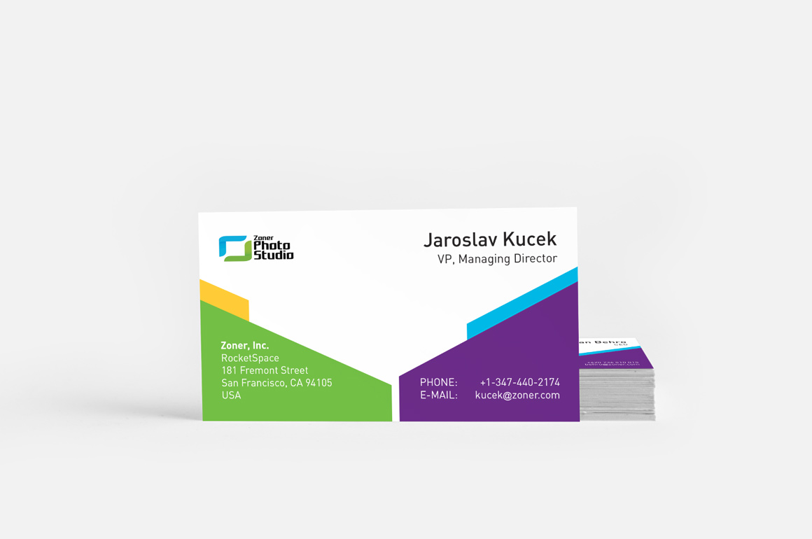 Zoner software - Business cards