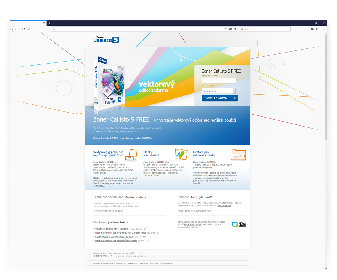 Zoner software - Responsive website